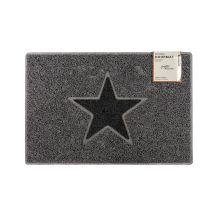 Star Medium Doormat in Grey with Black Star