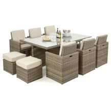 Winchester 7-Piece Cube Set with Footstools in Natural