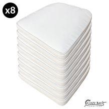 Cozy Bay Panama Fabric Seat Pad (Set of 8) in Creamy White