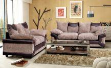 Dino Fabric 5 Seat Sofa Set in Brown & Coffee