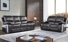 Holden Leathaire 5 Seat Recliner Sofa Set in Grey