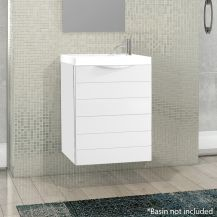 Rafa 40cm Floating Basin Unit with Door in White