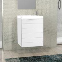 Rafa 40cm Basin Set - 40cm Basin & Basin Unit with Door in White