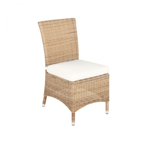 Stupendous Barcelona Rattan Dining Chair In 4 Seasons With Creamy White Cushions Ncnpc Chair Design For Home Ncnpcorg