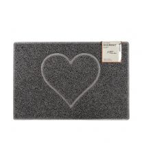 Heart Large Embossed Doormat in Grey