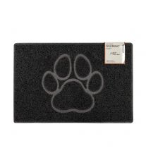 Paw Large Embossed Doormat in Black