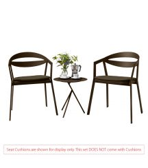 La Vida Aluminium 2 Seater Tea for Two Set in Coffee with Explorer Table (No Cushions)