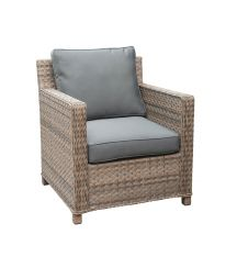 Knightsbridge Rattan Single Sofa in Chic Walnut