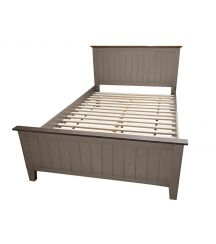 Joslyn Small Double Bed in Gunmetal Grey