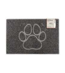 Paw Large Embossed Doormat in Grey