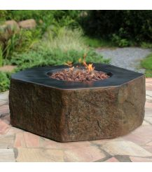 Columbia HPC Concrete Hexagon Fire Table in Basalt Brown