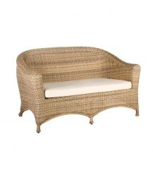 Bahama Rattan 2 Seater Arm Sofa in 4 Seasons