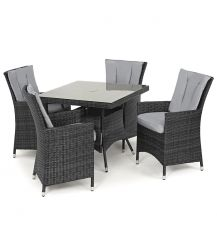 LA 4 Seat Square Dining Set in Grey
