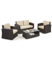 Kingston 4 Seat Lounge Set in Brown