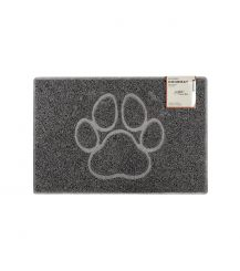 Paw Small Embossed Doormat in Grey
