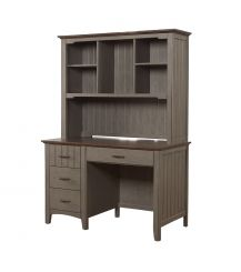 Joslyn Desk with Hutch in Gunmetal Grey