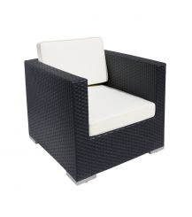 Oxford Rattan Arm Chair in Black Super