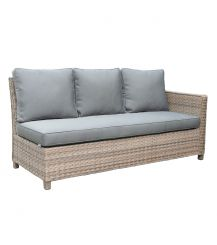 Knightsbridge Rattan 3 Seater 1 Arm Extension Sofa in Chic Walnut