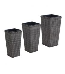 Victoria Tall Planter Set in Grey